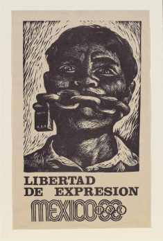 sports racism liberty-of-expression-poster-issued-in-support-of-student-protests-before-mexico-city-olympic-games-1968-by-adolfo-mexiac-calderc3b3n